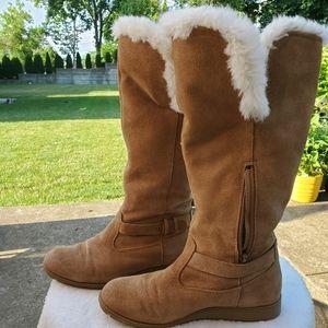 Lands End Faux Fur Lined Winter Boots